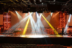 Modern Stage with Lighting Elements Stock Image