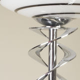 Modern Stainless steal curvy floor lamp Royalty Free Stock Images