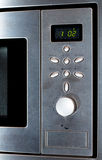 Modern Stainless Steel Microwave Oven Stock Photo