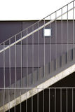Modern stainless steel railings Stock Images