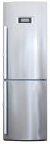 modern stainless-steel refrigerator front view Stock Photography