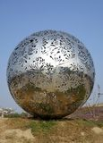 Modern Stainless Steel Sculpture Stock Images