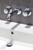 Modern stainless steel tap Stock Photos