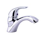 Modern stainless steel tap Royalty Free Stock Images