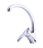 Modern stainless steel tap. Royalty Free Stock Photo