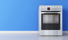 Modern stainless stove Royalty Free Stock Photography