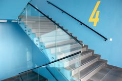 Modern staircase. In the modern building Royalty Free Stock Photos
