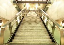 Modern Staircase. Long staircase in modern subway station of Hong Kong Royalty Free Stock Images