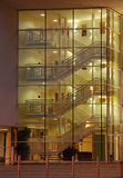 Modern Staircase. Lit up at night Royalty Free Stock Image