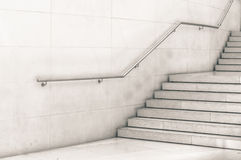 Modern staircase in black and white Royalty Free Stock Image