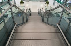 The Modern staircase in airport Royalty Free Stock Photo