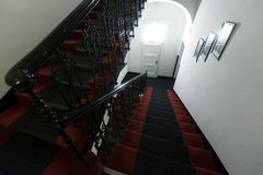 Modern staircase in hotel Stock Image