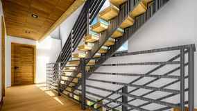 Modern staircase - interior Royalty Free Stock Photos