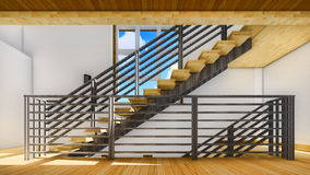 Modern staircase - interior Stock Photo