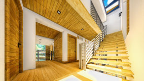 Modern staircase - interior Royalty Free Stock Images