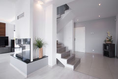 Modern staircase in stylish house Stock Images