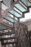 Modern stairs. Stairs made of glass and steel Royalty Free Stock Photos
