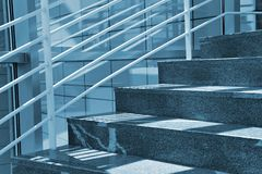 Modern Stairs. Modern Marble Stairs in Business building royalty free stock image