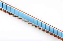 Modern stairs with blue glass Royalty Free Stock Photo