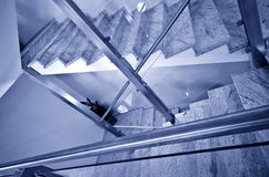 Modern stairs blue tone Royalty Free Stock Photo