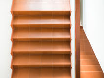 Modern stairs with handrail interior. In a building Stock Photos