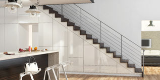 Modern stairs Stock Photo