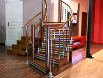 Modern Stairs for Living Room Stock Images