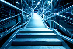 Modern stairs at night Royalty Free Stock Photography