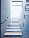 Modern stairs in penthouse Stock Image