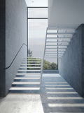 Modern stairs in penthouse Royalty Free Stock Photos