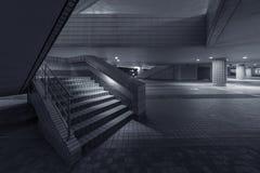 Modern stairway. Stairway of modern architecture at night Stock Image