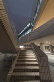 Modern stairway. Stairway of modern architecture at night Royalty Free Stock Photo