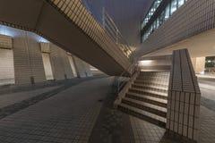 Modern stairway. Stairway of modern architecture at night Stock Photo