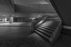 Modern stairway. In the dark Stock Image