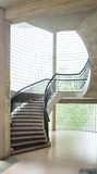 Modern stairway. Spiral staircas at modern office Stock Photos