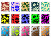 Modern stamps Stock Images