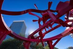 Modern standbeeld in Tucson Arizona stock foto