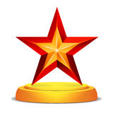 Modern Star Award. Shiny Vector Illustration.  Trophy, Challenge Prize. Beautiful Label Design. Isolated Stock Photo