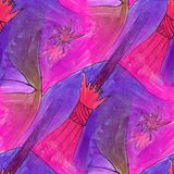 Modern star, broom seamless watercolor artist wallpaper texture Royalty Free Stock Image