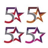 Modern 5 star logo concepts Royalty Free Stock Photos