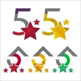 Modern 5 star logo concepts Stock Photography
