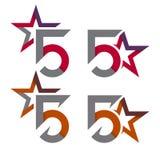 Modern star logo concepts Stock Photos