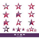 Modern star logo concepts Stock Image