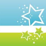 Modern stars background stock illustration