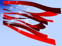 Modern stars and stripes Stock Images