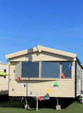 Modern static caravan Stock Photos