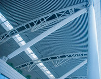 The modern station building structure Royalty Free Stock Photo