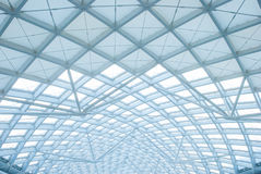 The modern station building structure Stock Images