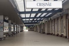 Railway station in Chisinau Stock Photo