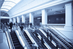 Modern station and escalator Stock Image